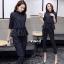 เสื้อผ้าเกาหลี พร้อมส่ง ชุดเซ็ท2ชิ้น ใส่ทำงานเก๋ๆ thumbnail 3