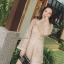 เสื้อผ้าเกาหลี พร้อมส่ง จั้มสูท ลูกไม้ สีทองหรู thumbnail 8