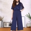 เสื้อผ้าเกาหลี พร้อมส่ง จั๊มสูท คอV แต่งโช้คเกอร์ช่วงคอ thumbnail 10