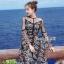 เดรสเกาหลี พร้อมส่ง Dress ชุดกระโปรงลวดลายดาว thumbnail 1