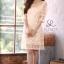 เดรสเกาหลี พร้อมส่่ง Dress ซีทรูปักผ้าดิ้น thumbnail 3