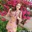 เดรสเกาหลี พร้อมส่ง เดรส ผ้าไหมซิลค์ปริ้นลายดอกไม้ thumbnail 5