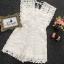 เสื้อผ้าเกาหลี จั้มสูท งานผ้าลูกไม้ทอลายดอกไม้ thumbnail 8
