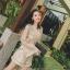 เสื้อผ้าเกาหลี พร้อมส่ง จั้มสูท ลูกไม้ สีทองหรู thumbnail 3