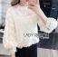 เสื้อเกาหลี พร้อมส่ง เสื้อผ้าลูกไม้ สีขาวสไตล์วินเทจเฟมินีน thumbnail 3