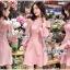 เดรสเกาหลี พร้อมส่ง ชุดเดรส ผ้าคอตตอนสีชมพูอ่อน thumbnail 1