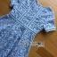 พร้อมส่ง เดรสผ้าลูกไม้ทอลายดาวสีฟ้า thumbnail 6