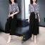 เดรสเกาหลี พร้อมส่ง ชุดเดรส ผ้าสวยมาก ผ้าพริ้ว thumbnail 3
