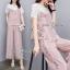 เสื้อผ้าเกาหลี พร้อมส่ง ชุดเซ็ทเสื้อลูกไม้+สายเดี่ยว+กางเกง thumbnail 7