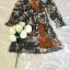 เดรสเกาหลี พร้อมส่ง เดรสเนื้อผ้าเครป ลายดอกไม้ thumbnail 14
