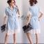 ชุดเดรสเกาหลี พร้อมส่ง Dress ยีนส์ คอปก thumbnail 20