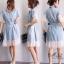 ชุดเดรสเกาหลี พร้อมส่ง Dress ยีนส์ คอปก thumbnail 21