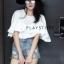 เสื้อเกาหลี พร้อมส่ง เสื้อระบายวอลลุ่ม thumbnail 19