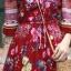 ชุดเดรสเกาหลี พร้อมส่ง Maxi dress ปริ้นลายดอกแต่งเชิงชาย thumbnail 8