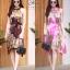 เดรสเกาหลี พร้อมส่ง Dress อัดพลีท ปริ้นลายดอก thumbnail 1