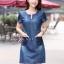 เดรสเกาหลี พร้อมส่ง dress ทรง a ทรงใส่น่ารัก thumbnail 5