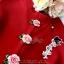 เดรสเกาหลี พร้อมส่ง เดรสสั้น โทนสีแดงสดสวย thumbnail 12