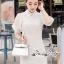 เดรสเกาหลี พร้อมส่ง เดรสสีขาว เนื้อผ้าTulleแบบโปร่ง thumbnail 4