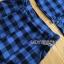 เสื้อผ้าเกาหลี พร้อมส่ง เซ็ตเสื้อและกางเกงลายตารางสีน้ำเงิน-ดำ thumbnail 17