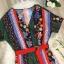 เสื้อผ้าเกาหลี พร้อมส่ง จั้มสูท ทรงสวย ลายเก๋ thumbnail 8