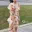 เดรสเกาหลี พร้อมส่ง มินิเดรส ลายดอกทิวลิปส้มๆ thumbnail 6