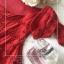 เดรสเกาหลี พร้อมส่ง เดรส เนื้อผ้าทอลายลูกไม้สีแดงสด thumbnail 13
