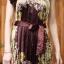 เดรสเกาหลี พร้อมส่ง Dress อัดพลีท ปริ้นลายดอก thumbnail 13