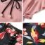 เสื้อผ้าเกาหลี พร้อมส่ง เสื้อชมพุ กับ เอี๊ยม กางเกงขากว้าง thumbnail 7