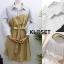 พร้อมส่ง Mini dress มาพร้อมเชือกผ้าผูกเอว thumbnail 2