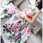 เดรสเกาหลี พร้อมส่ง เดรสยาว ลายดอกกุหลาบบาน thumbnail 2