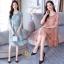 เดรสเกาหลี พร้อมส่ง เดรส ผ้าซาติลซิลพิมพ์ลาย thumbnail 1