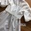 พร้อมส่ง เชิ้ตเดรสผ้าคอตตอนสีขาวตกแต่งลูกไม้ thumbnail 12