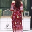 ชุดเดรสเกาหลี พร้อมส่ง Maxi dress ปริ้นลายดอกแต่งเชิงชาย thumbnail 9