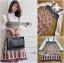 ชุดเดรสเกาหลี พร้อมส่ง เสื้อลูกไม้ กับ เดรสสายหนาผ้าวิสโคส thumbnail 8