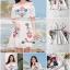 เดรสเกาหลี พร้อมส่ง ชุดเดรส ผ้าชีฟองสีขาวแบบย่น thumbnail 2