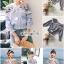เสื้อเกาหลี พร้อมส่ง เสื้อผ้าคอตตอนพิมพ์ลายริ้ว thumbnail 2