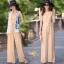 เสื้อผ้าเกาหลี พร้อมส่ง ชุดจั๊มสูทคอกลม แขนกุด thumbnail 6