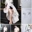 เสื้อผ้าเกาหลี พร้อมส่ง เสื้อเนื้อผ้าคอตตอนสีขาว thumbnail 2