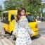 ชุดเดรสเกาหลี พร้อมส่ง ชุดเดรส ปักดอกเกาหลี thumbnail 3