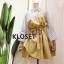พร้อมส่ง Mini dress มาพร้อมเชือกผ้าผูกเอว thumbnail 3