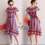 ชุดเดรสเกาหลี พร้อมส่ง Dress ใส่เป็นเปิดไหล่ thumbnail 6