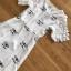 เดรสเกาหลี พร้อมส่ง เดรสผ้าชีฟอง สีขาวปักลาย thumbnail 20