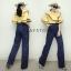 เสื้อผ้าเกาหลี พร้อมส่ง ชุดจัมพ์สูทกางเกงขายาว thumbnail 16