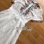 เดรสเกาหลี พร้อมส่ง เดรสผ้าชีฟอง สีขาวปักลาย thumbnail 14