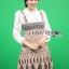ชุดเดรสเกาหลี พร้อมส่ง เสื้อลูกไม้ กับ เดรสสายหนาผ้าวิสโคส thumbnail 6