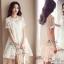 เดรสเกาหลี พร้อมส่ง มินิเดรส สีขาวลุคสวยน่ารัก thumbnail 5