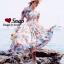 เดรสเกาหลี พร้อมส่ง Dress เปิดไหล่ เนื้อผ้าดีมาก thumbnail 4