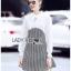 เดรสเกาหลี พร้อมส่ง เดรสผ้าชีฟองสีขาวและผ้าลายฮาวสทูธ thumbnail 9