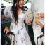 เดรสเกาหลี พร้อมส่ง ชุดเดรส ผ้าคอตตอนสีขาวปักลายดอกไม้ thumbnail 6
