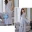 เสื้อผ้าเกาหลี พร้อมส่ง เสื้อ+กางเกง งานผ้าลูกไม้ทอลาย thumbnail 12